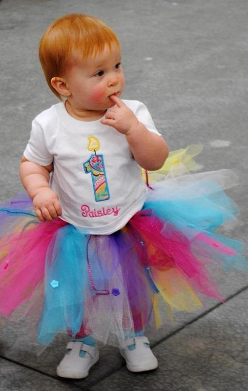 Birthday Tutu (with added buttons and ribbons) - Maddies Mad Hatters