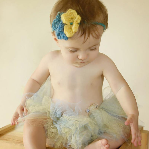 Crochet Headband with Flower and Tutu Set - Maddies Mad Hatters
