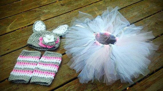Bunnt Crochet Hat, Tutu and Legwarmers Set - Maddies Mad Hatters
