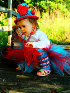 Birthday Set! Thing 1 or Thing 2 Appliqué Number (your choice) T-Shirt, Crochet Hat and Tutu Set - Maddies Mad Hatters