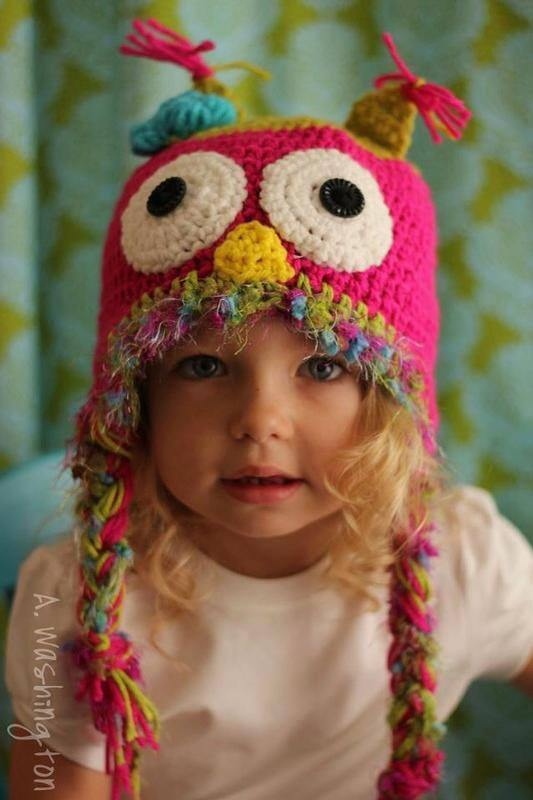 Green and pink owl hat to match tutu combo