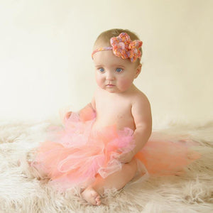Baby Tutu and Crochet Headband Set