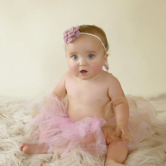 Pink and Gold Tutu and headband combo