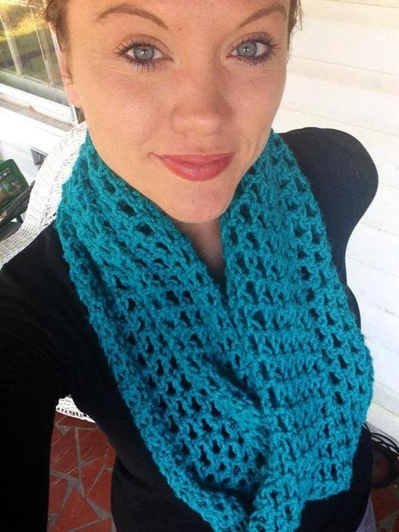 Inifinity Crochet Cowl - Maddies Mad Hatters