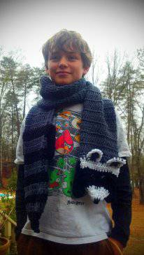 Raccoon Crochet Scarf - Maddies Mad Hatters