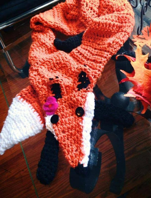 Fox Crochet Scarf - Maddies Mad Hatters