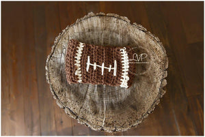 Football Crochet Headband - Maddies Mad Hatters