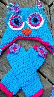 Owl Crochet Hat and Legwarmers Set - Maddies Mad Hatters