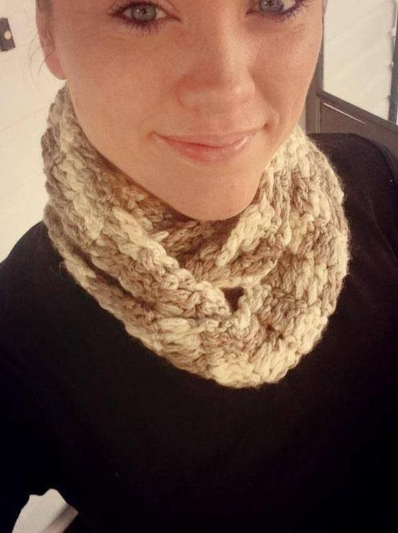 Double Wrap Thick Crochet Cowl - Maddies Mad Hatters