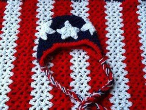 4th of July Stars and Stripes Crochet Hat - Maddies Mad Hatters