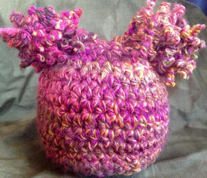 Curly Pom Pom Crochet Hat - Maddies Mad Hatters