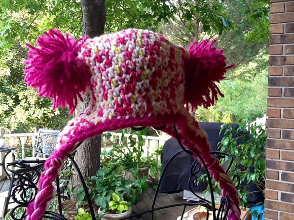 Copy of Green and pink elfin hat