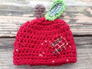 Apple Crochet Hat - Maddies Mad Hatters