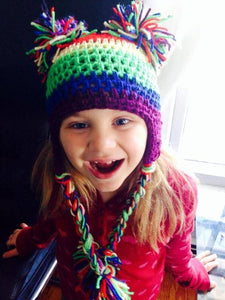 Color me wild Pom hat