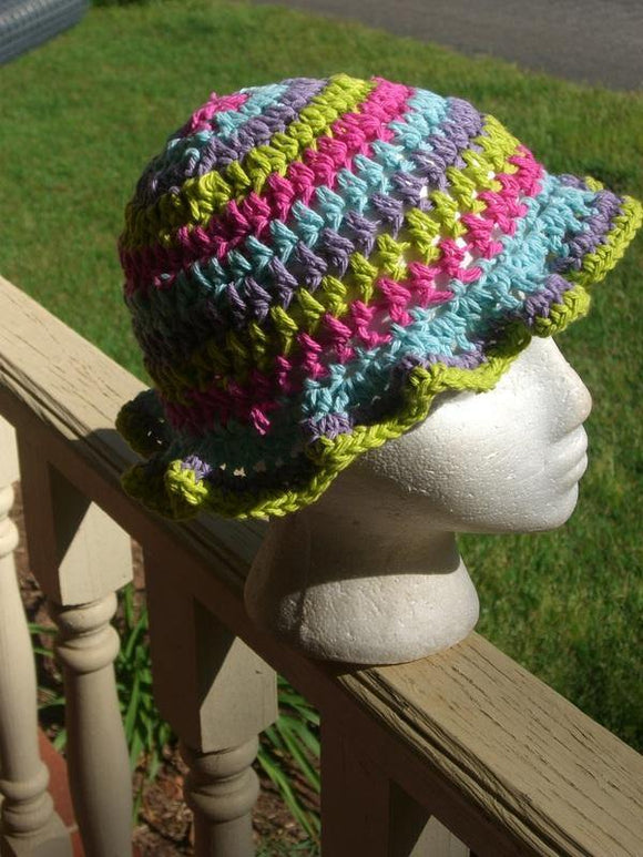 Multi-Colored Crochet Hat
