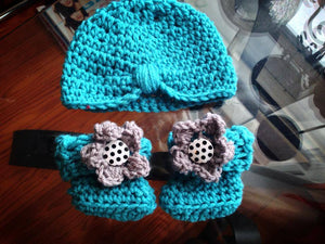 Teal Turban Crochet Hat - Maddies Mad Hatters