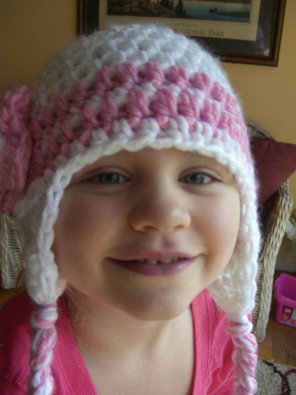 Striped Crochet Hat with Tassels - Maddies Mad Hatters
