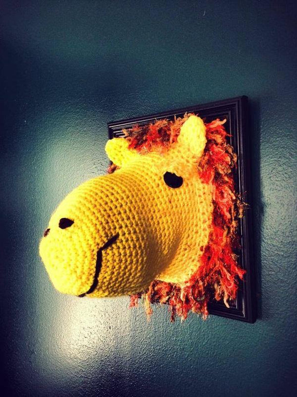 Crochet Taxidermy Lion - Maddies Mad Hatters