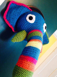 Crochet Taxidermy Elephant - Maddies Mad Hatters