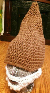 Brown Gnome Crochet Hat - Maddies Mad Hatters