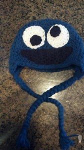 Cookie Monster-inspired Crochet Hat