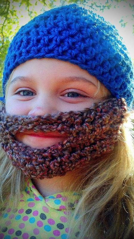 Bearded Crochet Hat - Maddies Mad Hatters