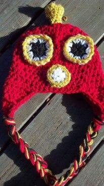 Angry Bird-inspired Crochet Hat