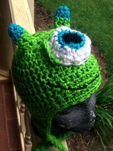 One-eyed Monster Crochet Hat - Maddies Mad Hatters