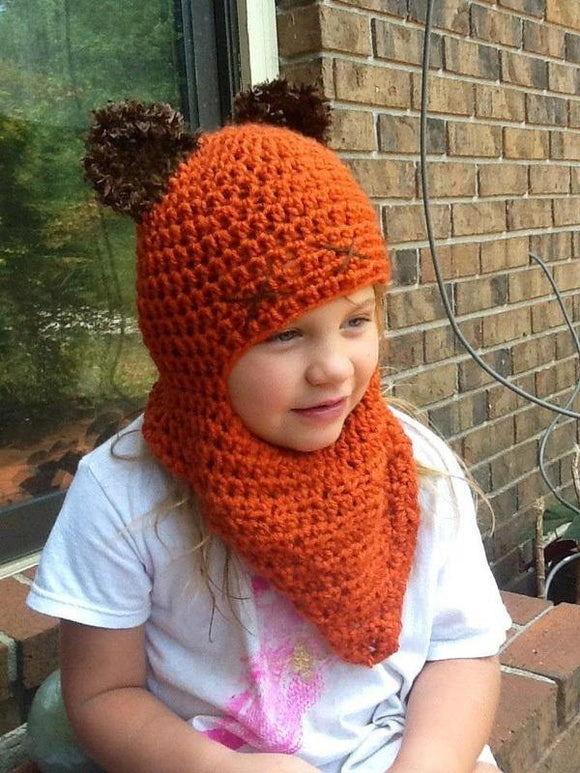 Ewok Ears Crochet Cowl Hat - Maddies Mad Hatters