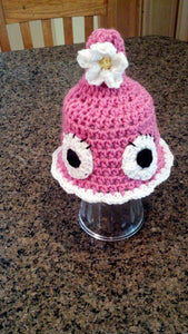Foof with Eyes Crochet Hat