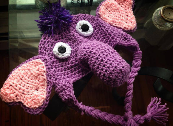Ellie the Elephant-inspired Crochet Hat - Maddies Mad Hatters