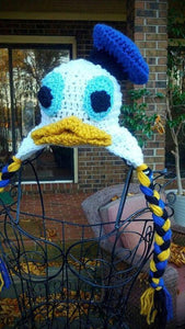 Donald Duck Crochet Hat - Maddies Mad Hatters