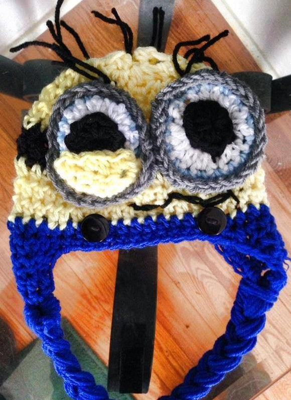 3D Frazzled Minion Crochet Hat - Maddies Mad Hatters