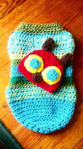 Caterpillar Crochet Hat & Baby Cocoon