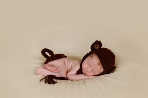 Monkey Crochet Hat and Tushy Topper Set - Maddies Mad Hatters
