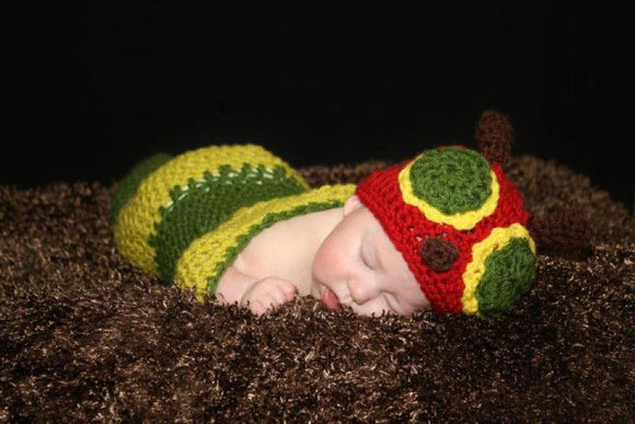 Caterpillar Crochet Hat and Cocoon Set - Maddies Mad Hatters