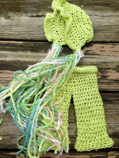 Bonnet Crochet Hat and Pant Set - Maddies Mad Hatters