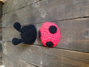 Ladybug Crochet Hat and Tushy Topper Set - Maddies Mad Hatters