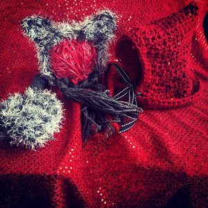 Wolf Crochet Hat with Tail