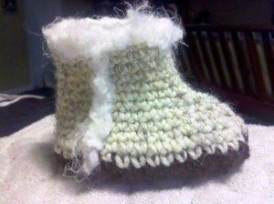 Crochet Booties - Maddies Mad Hatters
