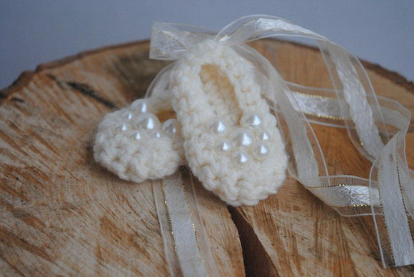 Crochet Ballet Slippers - Maddies Mad Hatters