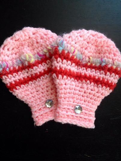 Thumbless Crochet Mittens