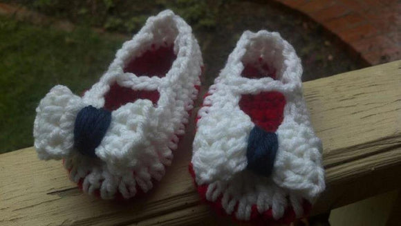 Crochet Slippers with Bows