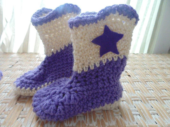Crochet Cowboy boots (any color)