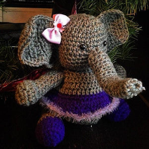Ellie the Elephant Crochet Doll - Maddies Mad Hatters