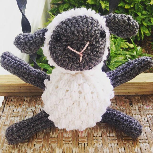 Lambie the Sheep Crochet Doll - Maddies Mad Hatters