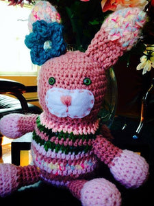 Lulu the Rabbit Crochet Doll - Maddies Mad Hatters