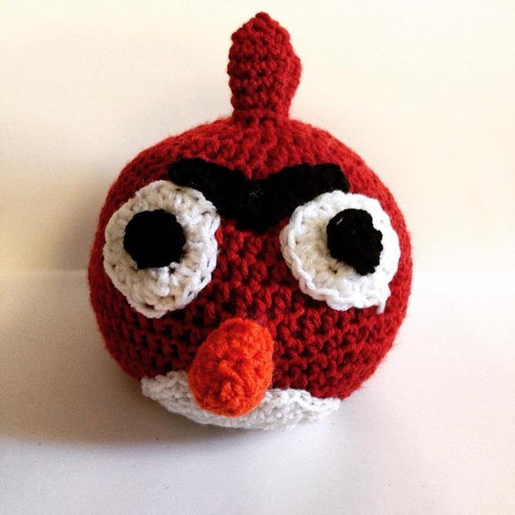 Big Red Bird Crochet Doll