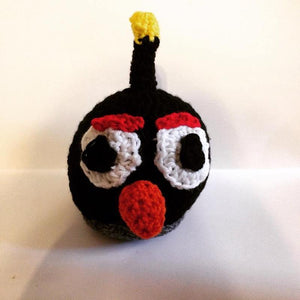 Black Bird Crochet Doll