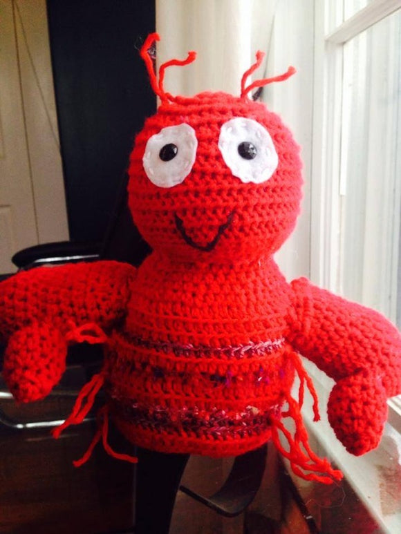 Super Cute Pinchers the Crawfish Crochet Doll! (Large Size, Over 20